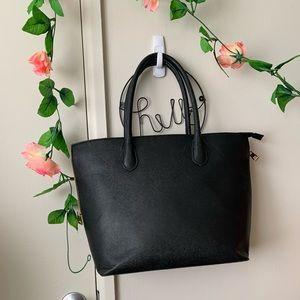 H&M • Black Multi-zip Black Tote/Purse